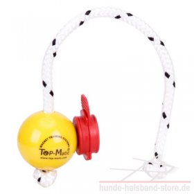 Set aus Top-Matic Fun Ball Mini SOFT gelb + roter Magnetclip