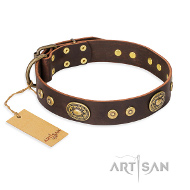 """One-of-a-Kind"" Lederhalsband braun von Artisan FDT"