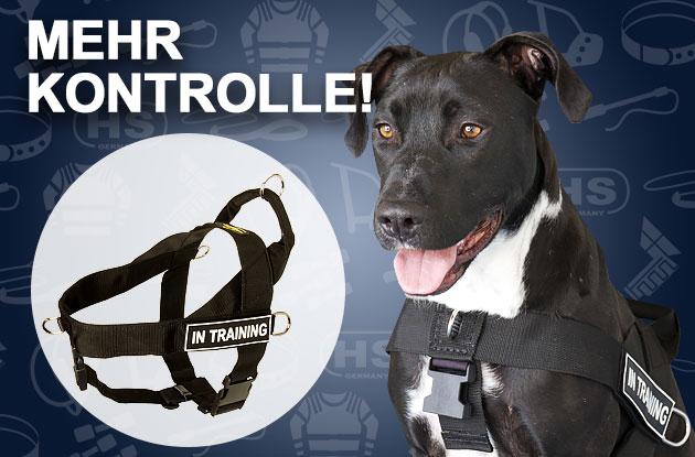 Hundegeschirr aus Nylon mit Klettlogos