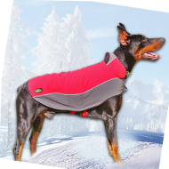 Hundemantel Nylon für Dobermann | Umhang mit Fleece ❋❋❋