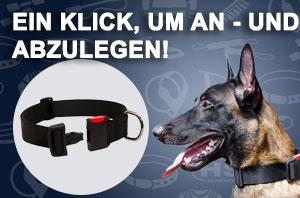 Hundehalsband mit Schneelverschluss