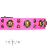 """Pink of Perfection "" Lederhalsband Artisan FDT"