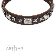 """Perfect Impression"" modisches Lederhalsband von Artisan FDT"