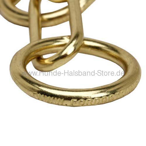 Hundehalsband Kette Messing