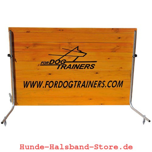 Barriere aus Holz