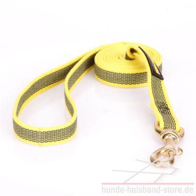 Hundeleine aus Nylon gelb